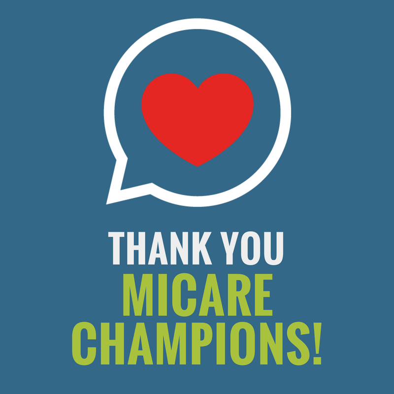 Thank You MiCare Champions